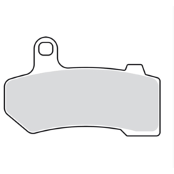 Double-H gesinterde remblokset 08-20 FLH; 09-13 19-20 / 06-17 V-Rod