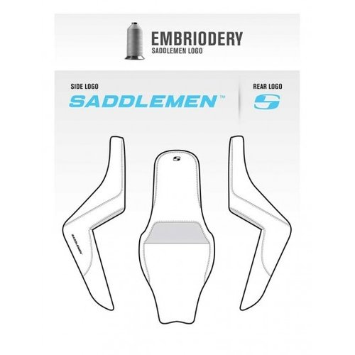 Saddlemen Step Up 2-Up Zadel Tuck & Diamond Harley FLH 1997-2007