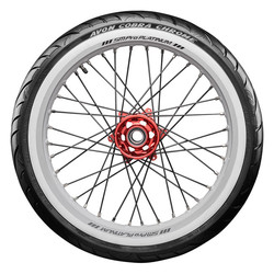 Cobra Chrome White Wall Tire - Front 57V 100/90-19