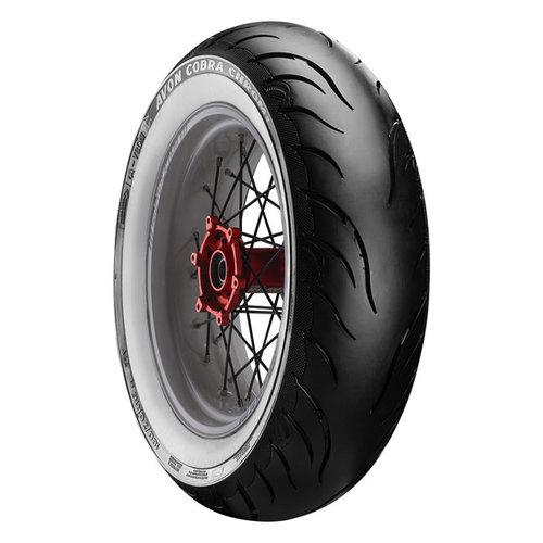 Avon Cobra Chrome White Wall Tire - Rear 150 / 70B18