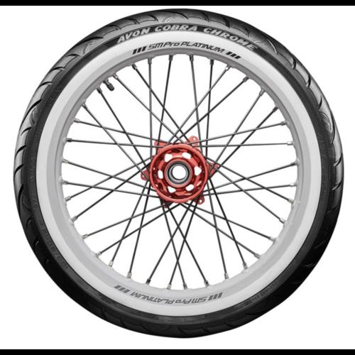 Avon Cobra Chrome White Wall Tire - Front 150 / 80R16
