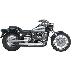 """2 """"Drag Pipe Auspuff Slash Cut Yamaha XVS 650 Drag Star 97-15"""