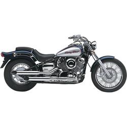 "2 ""Drag Pipe Auspuff Wide Cut Yamaha XVS 650 Drag Star 97-15"