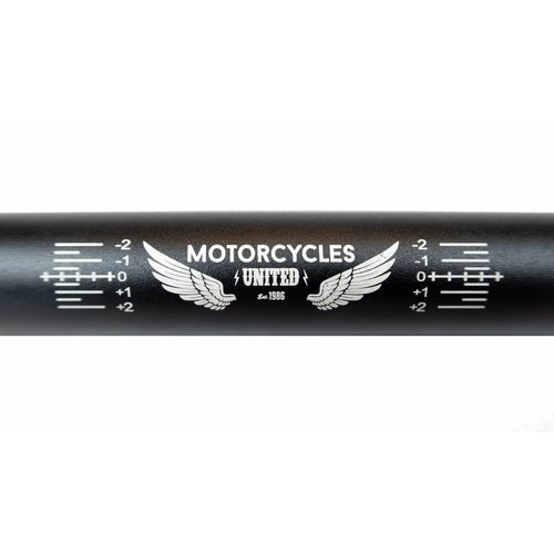 MCU 22MM Aluminium Fatbar  Stuur Zwart