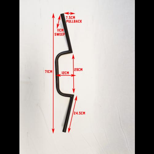 MCU 22mm Wide Pullback Cafe Racer M-Lenker Schwarz