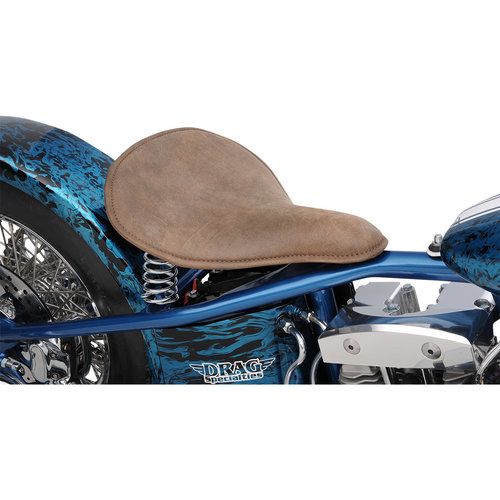 Drag Specialties Large Solo Seat - Distressed Leather Brown