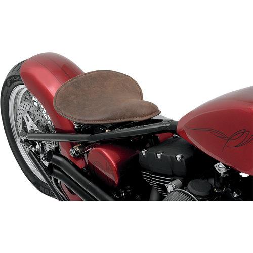 Drag Specialties Grand siège solo - cuir vieilli marron