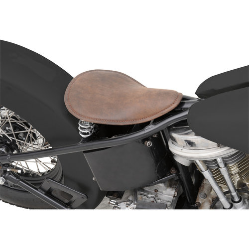 Drag Specialties Klein solo zadel - Distressed Leather Brown