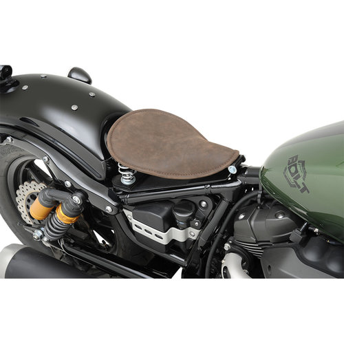 Drag Specialties Small Solo Seat - Distressed Leather Brown