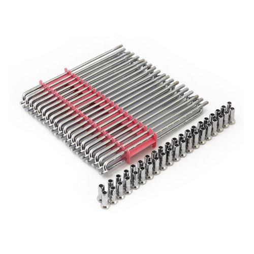 MCS Spoke Set 21 Inch Chrome Steel hub  80-02 H-D