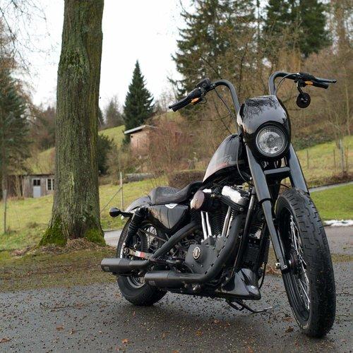 Lowbrow Customs 39MM Vorderradgabelabdeckungen für Harley Davidson Sportster / Dyna