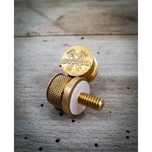 MCU Choppershop Seat Knob Black/Brass