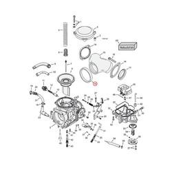 Cometic Seal, Cv Carb To Manifold für Harley Davidson