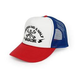 De 13 1/2 Trucker Logo 3D cap rood / wit / blauw