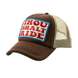 The 13 1/2 TSR Trucker cap brown with a pre-curved peak