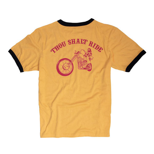 13 ½  13 1/2 TSR Ringer T-Shirt Geel