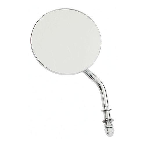 3 Inch Spiegel Rond - Lang/Kort & Zwart/Chrome