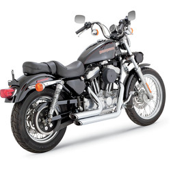 Shortshots Staggered Chrome for 99-03 Sportster XL