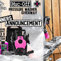 Winner Announcement Muc-Off Pressure washer Giveaway!