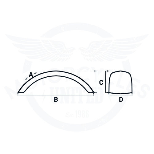 MCU 140 x 400 mm Stahlkotflügel