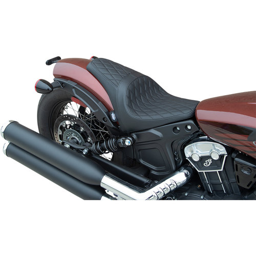 Drag Specialties 3/4 Solo Seat - Black Indian Scout Bobber 18-21