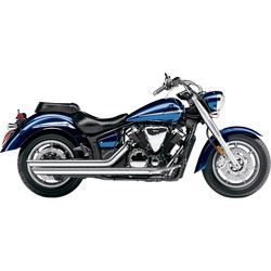 Yamaha XVS Speedster Slashdown Exhaust System Chrome with O2 Sensor