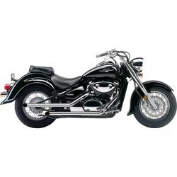 "Suzuki C / M 50 Boulevard Exhaust Steel 2"" Drag Pipe Slash Cut Chrome"