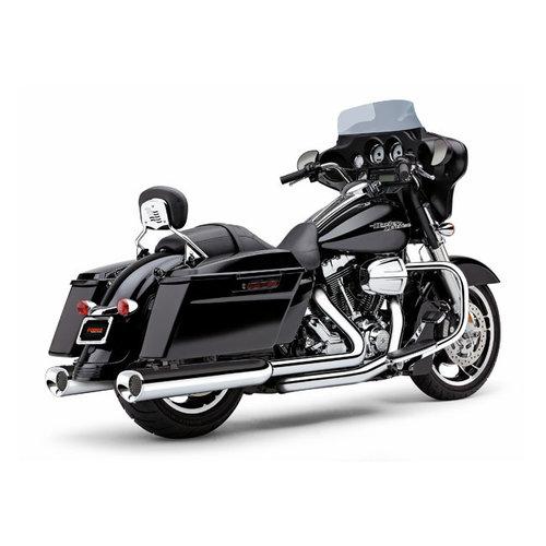 """Cobra USA 4-1 / 2 """"Tri-Flo Slip-On Dempers Chroom / Zwart 95-16 FLT / Touring"""