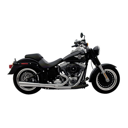 Supertrapp 2-1 Supermeg Auspuffanlage Chrom / Schwarz 84-17 Softail