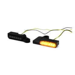 Lenker LED Blinker Softail, Dyna, Sportster XL (Maße auswählen)