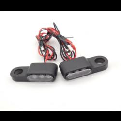 Handlebar Mounting LED Flashing Light Set (Short) (select color)