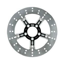 Adrian 5-spaaks zwevende remschijf voor 10-17 Dyna (excl. FXDL / S) met dubbele schijf