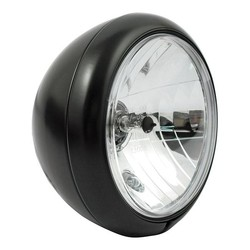 "7"" Old school Chopper Headlight Flat Black"