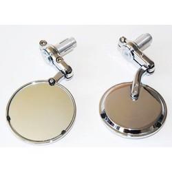 """3"""" Bar End Chrome 22MM Mirrors"""