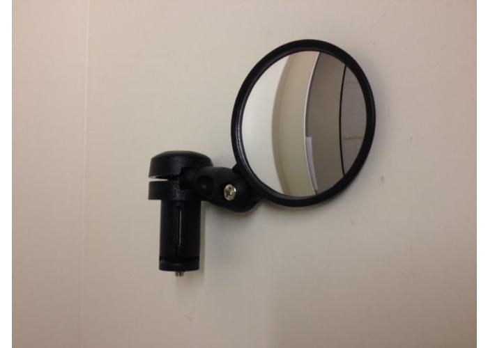 Zwarte groothoek Convex Bar End Mirror.