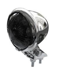 Bates Style LED Smoke / Chrome Chopper Taillight