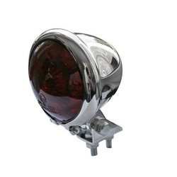 Bates Style LED Red / Chrome Chopper Taillight