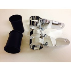 Pair of 43 - 47mm Headlight Brackets Chrome