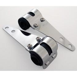 Cafe Racer Chrome Headlight Brackets 30mm - 38mm