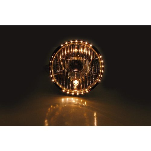 "Highsider 7"" Clear Black Gloss Koplamp RENO 2"