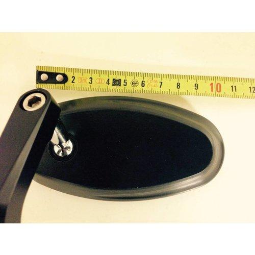 MCU 22MM CNC Bar End Spiegels Ovaal Zwart