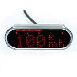 Moto Scope Mini Tachometer und Drehzahlmesser poliert