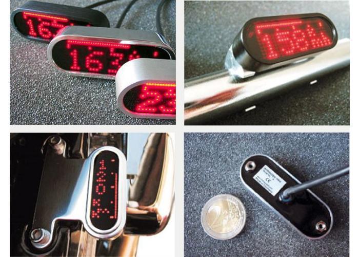 Motogadget Motoscope Mini Kilometerteller én Toerenteller Polished