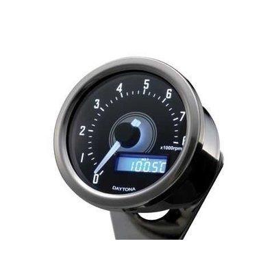 Daytona Velona Toerenteller Chrome 8.000 RPM