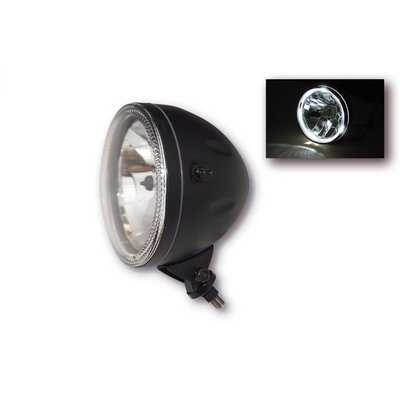 "Highsider 5.75"" Koplamp met LED Ring Halo Bottom Mount Zwart"