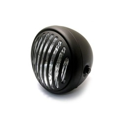 "6.75"" Steampunk Cafe Racer Matte Black Headlight"