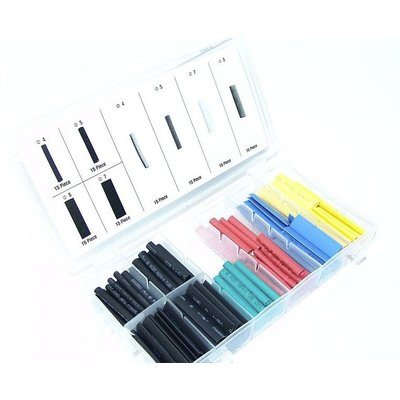 Coloured Heat Shrink Tubing Assortment (120pc)