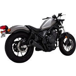 Upsweep Exhaust Muffler Slip-On Black Honda Rebel