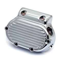Transmission End Cover Ribbed Cable Clutch Chrome 87-06 Softail; 87-06 FLT; 91-05 Dyna