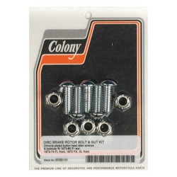 Schrauben- und Mutternsatz für Bremsscheibe vorne / hinten 73-74 FL; 1973 FX, XL; 73-80 FL